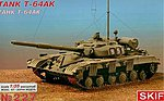 T64AK Soviet Commander Tank with Rubber Tracks -- Plastic Model Tank Kit -- 1/35 Scale -- #227