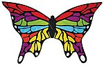 Rainbow Butterfly 48 -- Single Line Kite -- #10041
