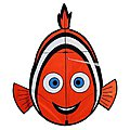 Clown Fish Kite -- Single Line Kite -- #10072