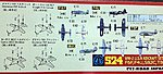 WWII USN Aircraft Set #3 -- Plastic Model Airplane Kit -- 1/700 Scale -- #s24