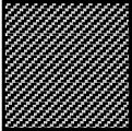 Comp. Carbon Fiber Decal Black on Silver -- Plastic Model Vehicle Decal -- 1/12 Scale -- #1012
