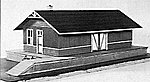 Freight Station Kit -- HO Scale Model Railroad Building -- #3030