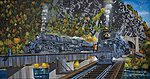 B&O Locomotives Encounter at Harper's Ferry -- Jigsaw Puzzle 0-599 Piece -- #21304
