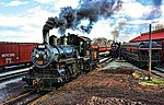 At the Trainyard/Steam Loco 1000pcs -- Jigsaw Puzzle 600-1000 Piece -- #31206