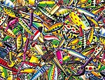 My Favorite Lures Collage 500pcs -- Jigsaw Puzzle 0-599 Piece -- #58633