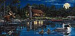 Reflections on Loon Landing 1000pcs -- Jigsaw Puzzle 600-1000 Piece -- #ll48401