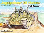 Jagdpanzer 38 Hetzer Walk Around -- Authentic Scale Tank Vehicle Book -- #27027
