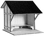 Passenger shelter assmbld - HO-Scale