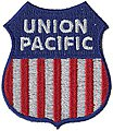 Union Pacific (Red, White, Blue) 2'' Vertical -- Cloth Railroad Patch -- #71080