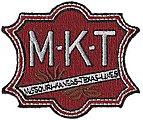 Missouri-Kansas-Texas (Large M-K-T, Red, White, Green) 2'' -- Cloth Railroad Patch -- #74057