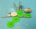 Motor Gear Set & RE140 Motor w/Mounting Plate