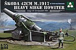 Skoda 42cm M.1917 Heavy Siege Howitzer -- Plastic Model Military Vehicle Kit -- 1/35 Scale -- #2018