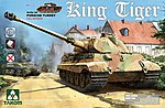 King Tiger Porsche with Int -- Plastic Model Military Vehicle Kit -- 1/35 Scale -- #2074