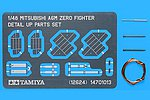 Mitsubishi A6M Zero Fighter Photo-Etch Set -- Plastic Model Aircraft Decal -- 1/48 Scale -- #12624