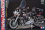 Harley Davidson FLH Classic Black Bike -- Plastic Model Motorcycle Kit -- #16037