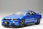Nissan Skyline GT-R V-Spec II Sportscar -- Plastic Model Car Kit -- 1/24 Scale -- #24258