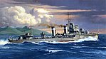 British E Class Destroyer Boat -- Plastic Model Military Ship Kit -- 1/700 Scale -- #31909
