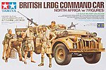 British LRDG Command Car w/7 Figures -- Plastic Model Military Vehicle Kit -- 1/35 Scale -- #32407
