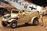 Kubelwagen (PkwK1) Type 82 Africa Corp -- Plastic Model Military Vehicle Kit -- 1/48 Scale -- #32503