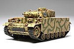 PzKpfw III Ausf N SdKfz 141/2 Tank -- Plastic Model Military Vehicle Kit -- 1/48 Scale -- #32543