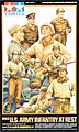 US WWII Infantry at Rest Soldier Crew -- Plastic Model Military Figure Kit -- 1/48 Scale -- #32552