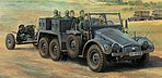 German 6x4 Towing Truck Kfz.69 -- Plastic Model Military Vehicle Kit -- 1/48 Scale -- #32580