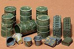 Jerry Can Set -- Plastic Model Military Diorama Kit -- 1/35 Scale -- #35026