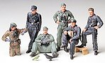 German Tank Crew Soldiers At Rest -- Plastic Model Military Figure Kit -- 1/35 Scale -- #35201