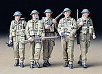 British Infantry Soilder Crew Set -- Plastic Model Military Figure Kit -- 1/35 Scale -- #35223