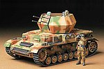 German Flakpanzer IV Wirbelwind Tank -- Plastic Model Military Vehicle Kit -- 1/35 Scale -- #35233