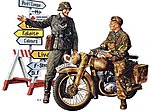 German Motorcycle Orderly Soldier Set -- Plastic Model Military Figure Kit -- 1/35 Scale -- #35241