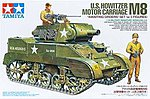 US Howitzer Motor Carriage M8 w/3 Figs -- Plastic Model Military Vehicle Kit -- 1/35 Scale -- #35312
