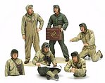 US Tank Crew Set European Theater -- Plastic Model Military Vehicle Kit -- 1/35 Scale -- #35347