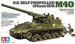 US Self-Propelled 155mm Gun M40 -- Plastic Model Military Vehicle Kit -- 1/35 Scale -- #35351