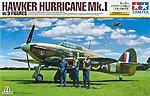 Hawker Hurricane Mk.I w/3 Figures Aircraft -- Plastic Model Airplane Kit -- 1/48 Scale -- #37011