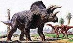 Triceratops Dinosaur Diorama Set -- Plastic Model Dinosaur Kit -- 1/35 Scale -- #60104