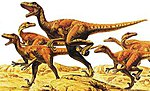 Velociraptors (6) -- Plastic Model Dinosaur Kit -- 1/35 Scale -- #60105