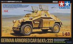German Armored Car Sd.Kfz.222 -- Plastic Model Military Vehicle Kit -- 1/48 Scale -- #89777