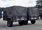 M1101 High Mobility 3/4 Ton Cargo Trailer -- HO Scale Model Roadway Vehicle -- #87089