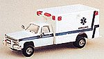 Air Force Ambulance Chevrolet Pickup Cab White & Blue -- HO Scale Model Roadway Vehicle -- #90044