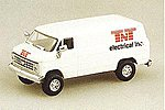Chevrolet Cargo Van TNT Electrical -- HO Scale Model Railroad Vehicle -- #90074
