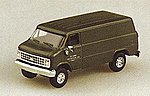 Chevrolet Cargo Van Green -- HO Scale Model Railroad Vehicle -- #90083