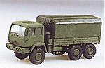 M1083 Dual Rear Axle Flatbed w/Cover -- HO Scale Model Railroad Vehicle -- #90087