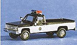 Chevy Truck North Carolina Highway Patrol Black & White -- HO Scale Model Railroad Vehicle -- #90173