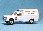 Chevrolet Box Van Kansas Highway Patrol -- HO Scale Model Railroad Vehicle -- #90234