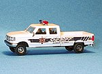 Ford F350 4-Door Pickup U.S. Sheriff -- HO Scale Model Railroad Vehicle -- #90236