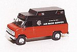 Chevrolet Van Chicago Fire Dept. Air Mask Service -- HO Scale Model Roadway Vehicle -- #90292