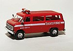 Chevrolet Personnel Van Toronto Fire Dept. -- HO Scale Model Roadway Vehicle -- #90315