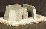 Large Atlantic Wall Bunker Resin -- HO Scale Model Railroad Building -- #99002