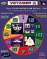 The Voyager Decal Set for MOE -- Science Fiction Plastic Model Decal -- 1/72 Scale -- #112